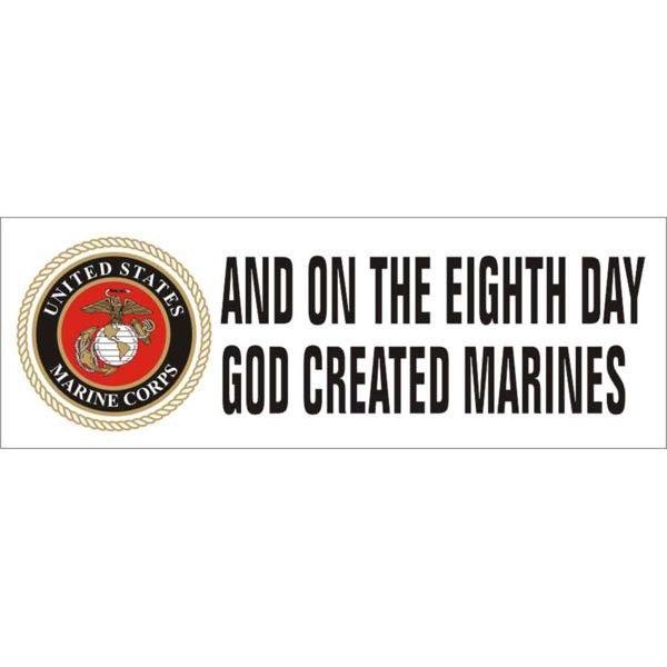 Marine corps bumper sticker with marine corps emblem