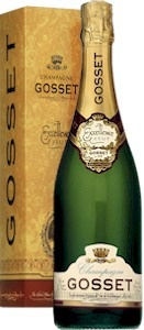 gosset champagne. new years eve.