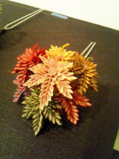 Kanzashi fall leaves