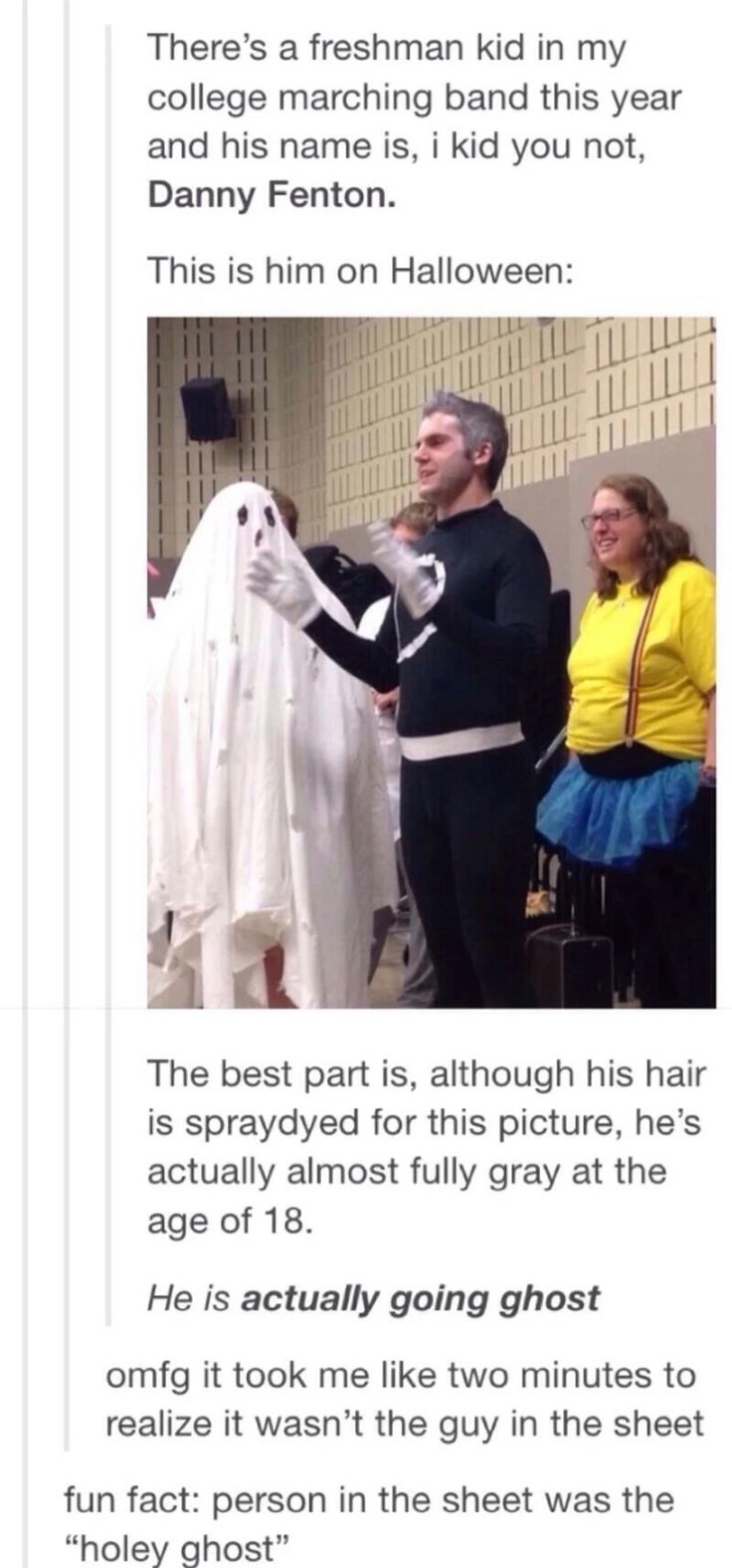 I don't know whether I'm pinning for the coincidence or the pun - Goin' ghost!<<<Parenting done right