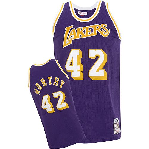 Los Angeles Lakers James Worthy 42 Purple Authentic Jersey Sale