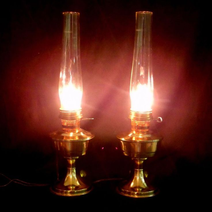 """ALADDIN Brass Hurricane Lamps 2 Electric OIL BURNER STYLE Marked Aladdin 24"""" Set 