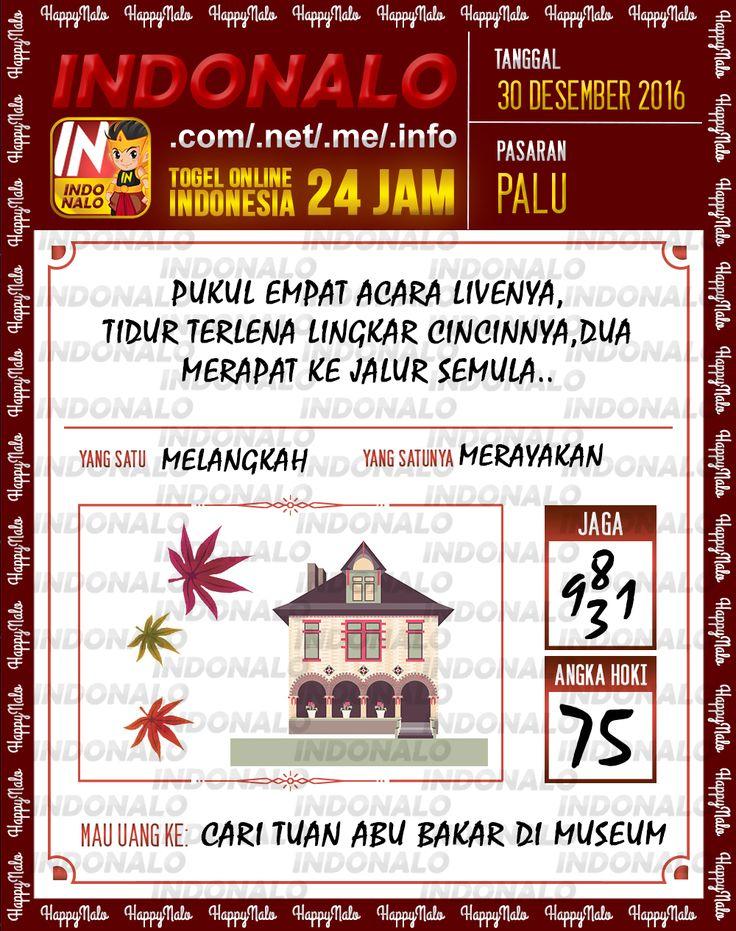 Kode Lotre 3D Togel Wap Online Live Draw 4D Indonalo Palu 30 Desember 2016