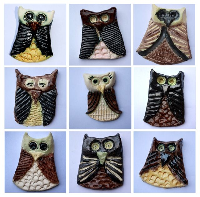 The Broody Bunch = Easy clay owls for kids of any age-these would be so cute as necklaces!