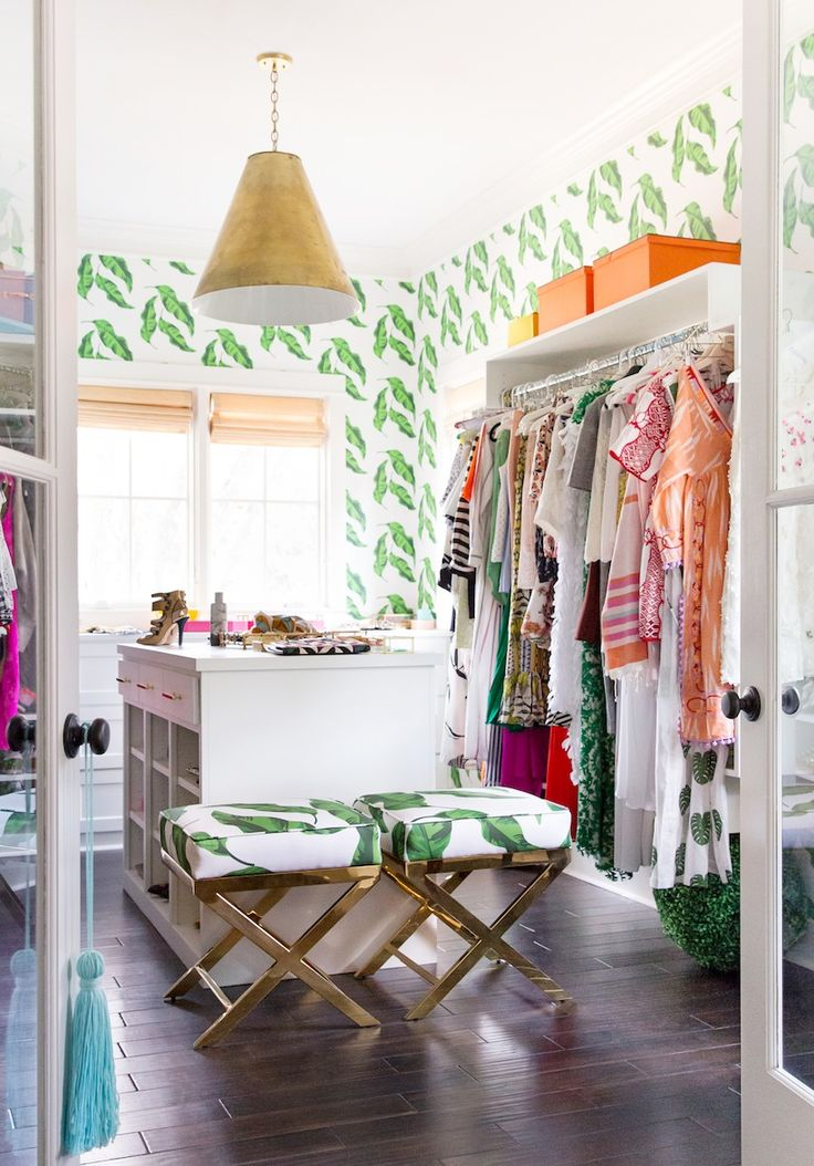Closet Decorating Ideas. Getting Dressed With Katie Kime