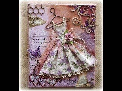 Vintage Dress Mixed Media Canvas Tutorial