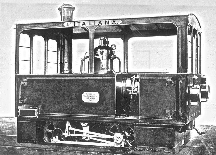 """ el gamba de legn "" linea Milano-Vaprio d'Adda - locomotiva a vapore, la prima per tranvie ""L'Italiana "" ('1878 ) - © Umberto Garbagnati -"