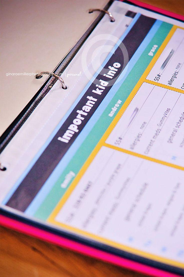 Best Family Organizer Binder Ideas On Pinterest Bill