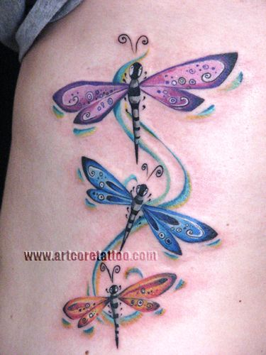 dragonfly tattoos. no antennas - dragonflies do not have antennas