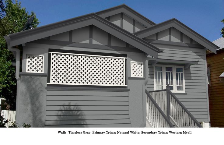 Timeless grey walls western myall secondary trim and for Exterior paint ideas australia