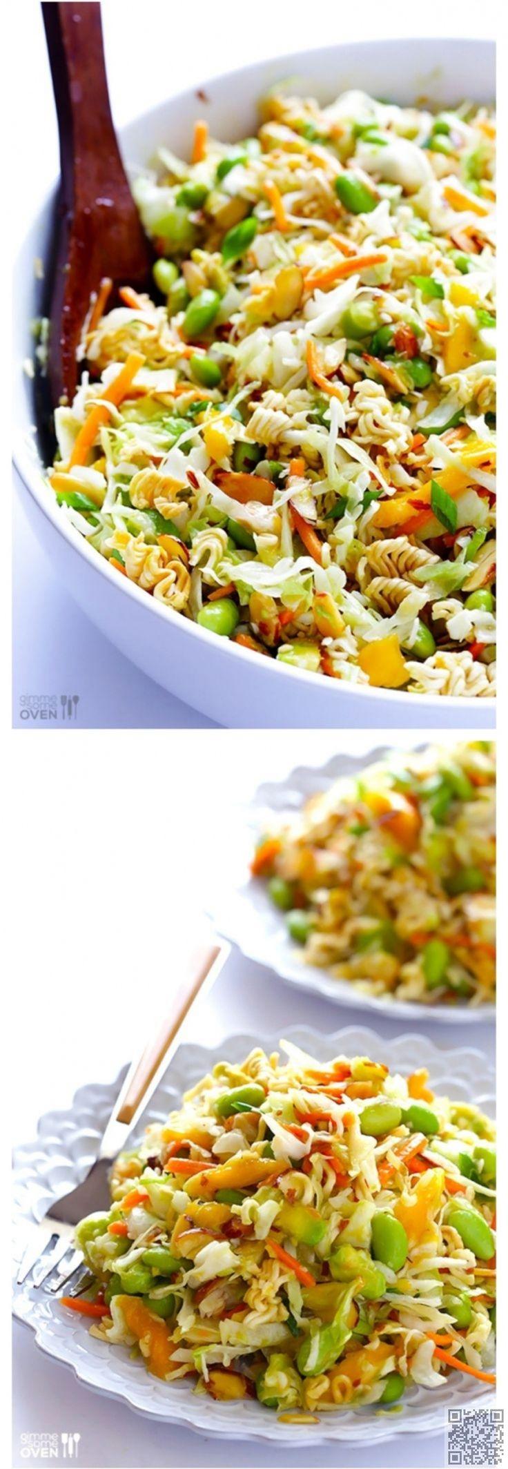 3. #salade de nouilles de #Ramen asiatique #croquant - 17 Inspos de…