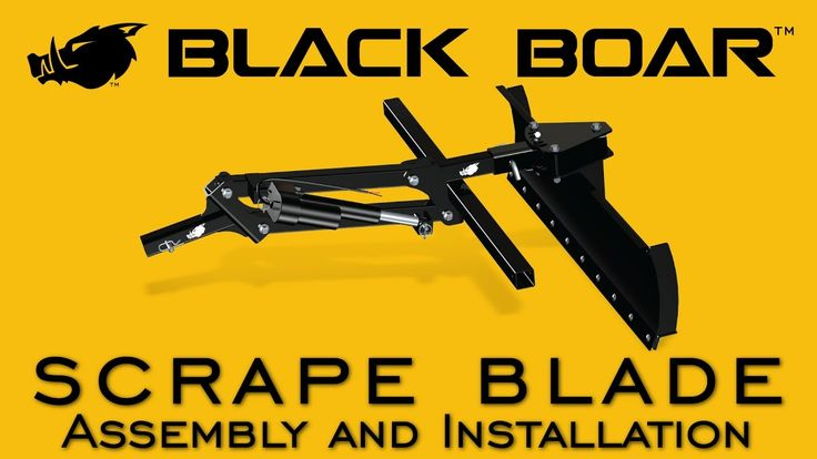 Black Boar Scrape Blade: Assembly and Installation