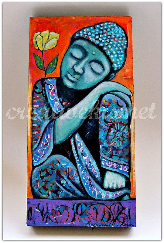 """""""To deepen my connection with what is real, lasting and true; I close my eyes and see through the lens of my heart.""""    ~  LaShaun Middlebrooks Collier  By: Regina Lord Title: 'Dreaming Buddha'  <3 lis"""