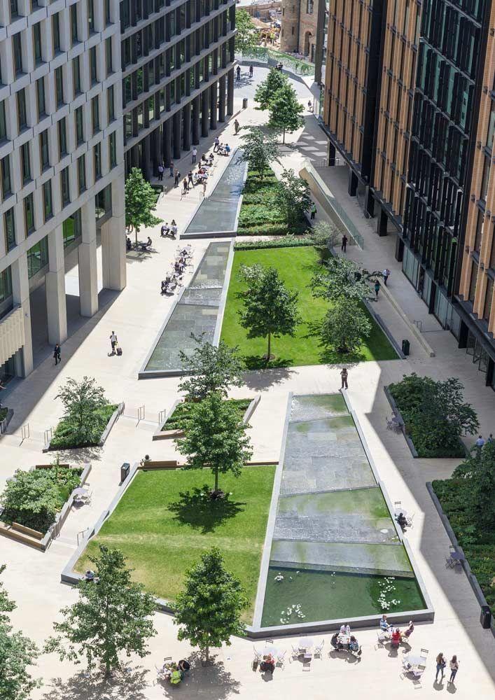 16 Simple Solutions For Small Space Landscapes Urban Landscape Design Garden Architecture Landscape Design Plans