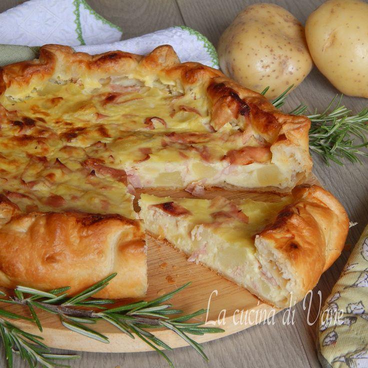 torta rustica patate stracchino mrtadella