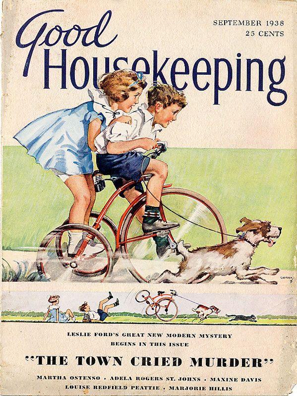 magazine: Housekeeping Covers, Housekeeping Magazines, Vintage Illustrations, Magazines Good Housekeeping, September 1938, Magazinesgood Housekeeping, Vintage Magazines, Magazines Covers, Housekeeping 1938