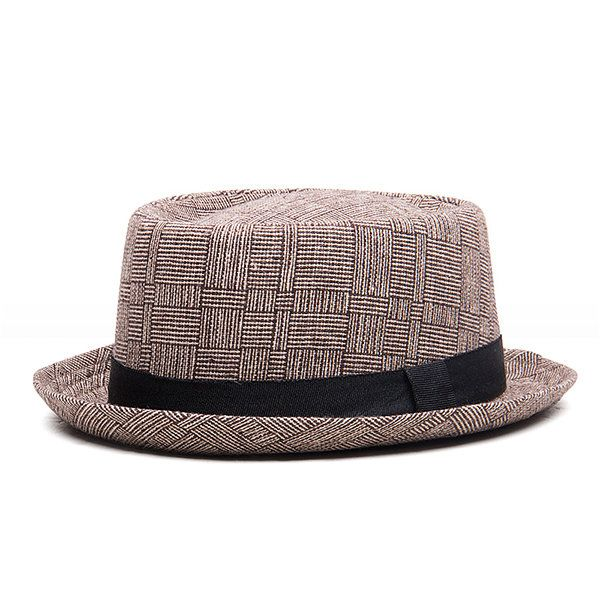 High-quality Men Women Not Crushed Vintage Top Hats Classic Stripe Bowler Hat Casual Cotton Skinny Brim Caps - NewChic
