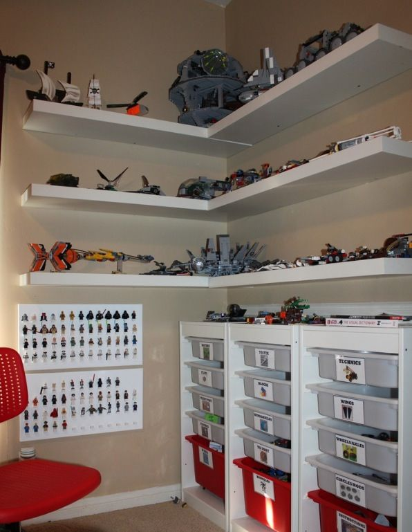Yes!!  Perfect!! IKEA here I come! Basement playroom-- for sons lego sets already built.