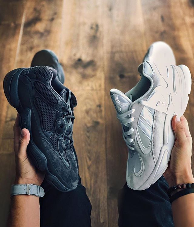 super cute f9361 bf1d1 Left or right? Yeezy 500 or Yung-1 #peigworldwide ...