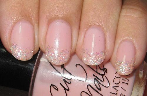 Sparkle French Nail Tips | pretty glitter nail ideas Glitter Nail Tips