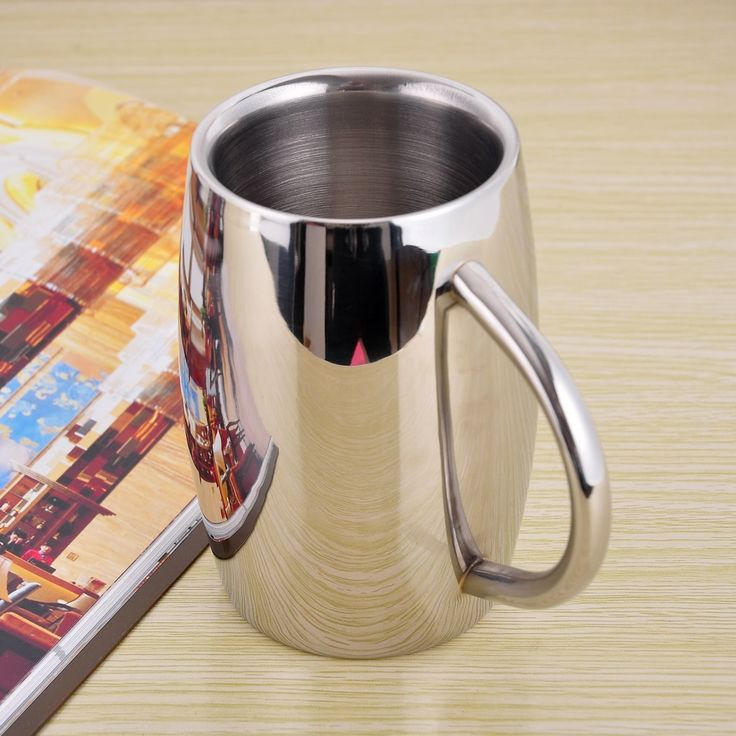 16OZ Double Walled Stainless Steel Mug insulated tumbler Coffee Mug Beer Cup Drinkware Free shipping