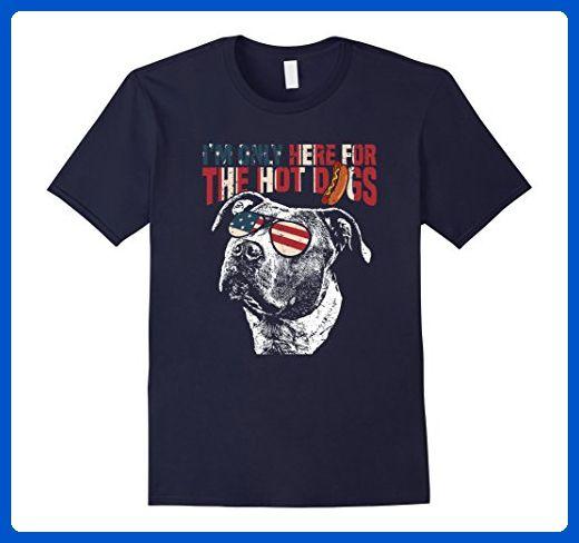 Mens Pit Bull Shirt Funny 4th of July Pup Tee Medium Navy - Holiday and seasonal shirts (*Amazon Partner-Link)