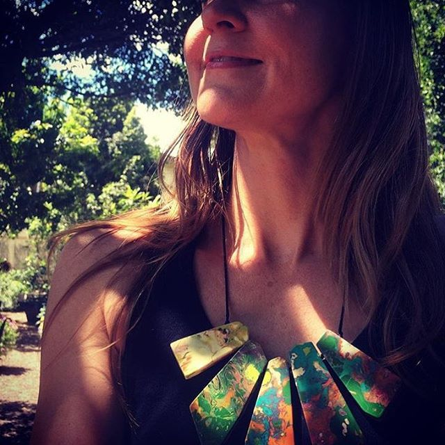 RO STOCKISTS // We just LOVE this pic thanks to our gorgeous stockist @trevallan in Brassel QLD. Stunning pic, of a stunning model in a stunning necklace. #colourmad #rubyolive #weloveourstockists