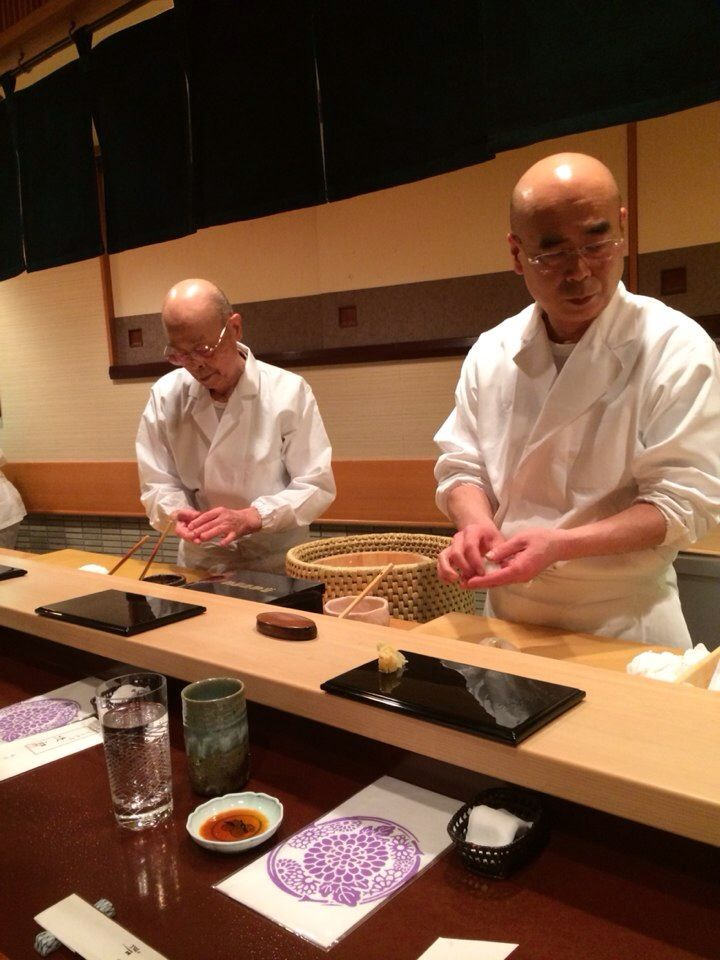 """I'm going to eat sushi at Sukiyabashi Jiro (Ginza) (most famous sushi bar in Tokyo - """"Jiro Dreams of Sushi""""). But if I can't get in, his son and some of his apprentices own other places."""