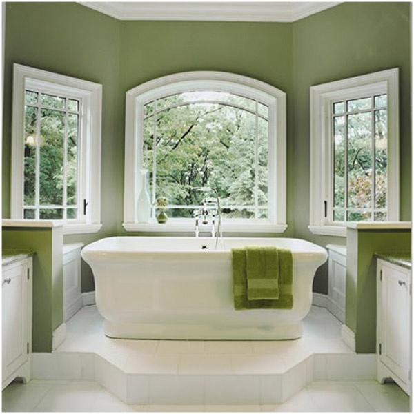 Green Bathroom: Dark Sage Green Bathroom