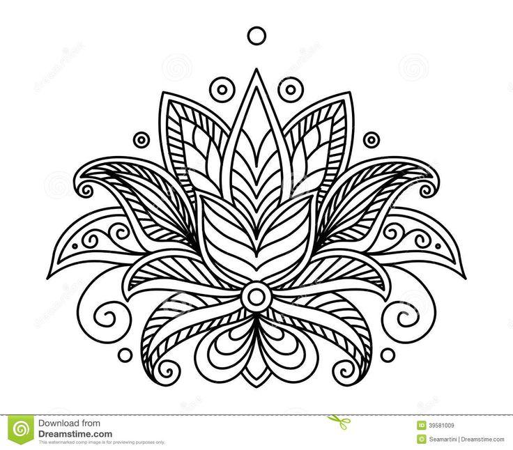 Henna Design Outline: The 10 Best Henna Tattoo Outline Designs Images On