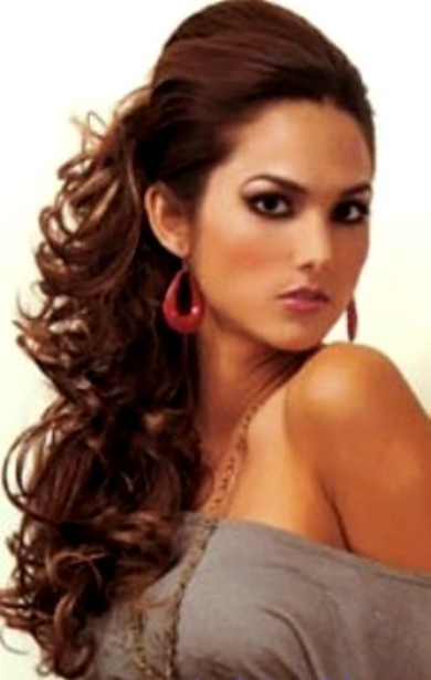 side swept hairstyle : ... Hair, Curly Side, Side Ponytail, Hair Style, Ponytail Hairstyles
