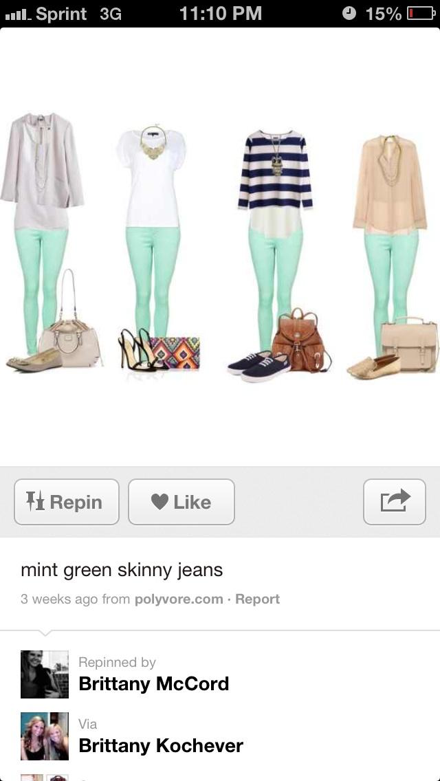 Mint pants