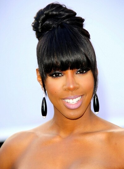 Swell 1000 Images About Buns Bangs Ponytails Amp Updos On Pinterest Short Hairstyles Gunalazisus