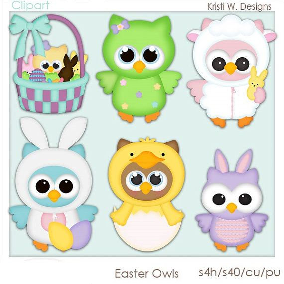 free easter owl clip art - photo #7