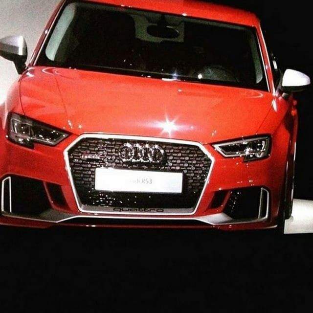 #LeakedImage Of #RedHot #Audi #RS3Sedan Breaks Cover