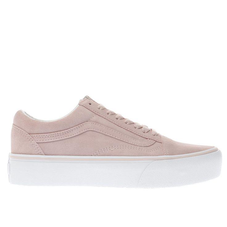vans pale pink old skool platform trainers | @giftryapp