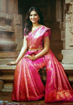 BEAUTIFUL BRIDAL PINK ROSE PATTU SAREE ~ Latest Fashion Trends