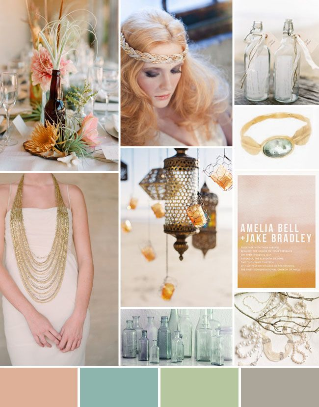 Inspiration Board #45: Bohemian Beach Wedding