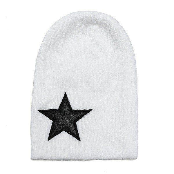 Men Women Wool Yarn Head Cap Winter Warm Star Knitted Ski Hats Hip-Pop Caps Beanie
