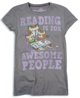 First of all, it has reading. Second, cats. Third, the cats are from those old Richard Scary books I used to have as a kid. Love.