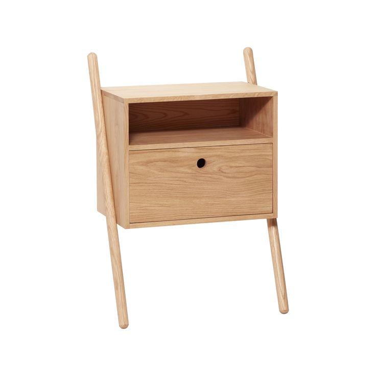Sängbord/ byrå vägg ek, Hubsch