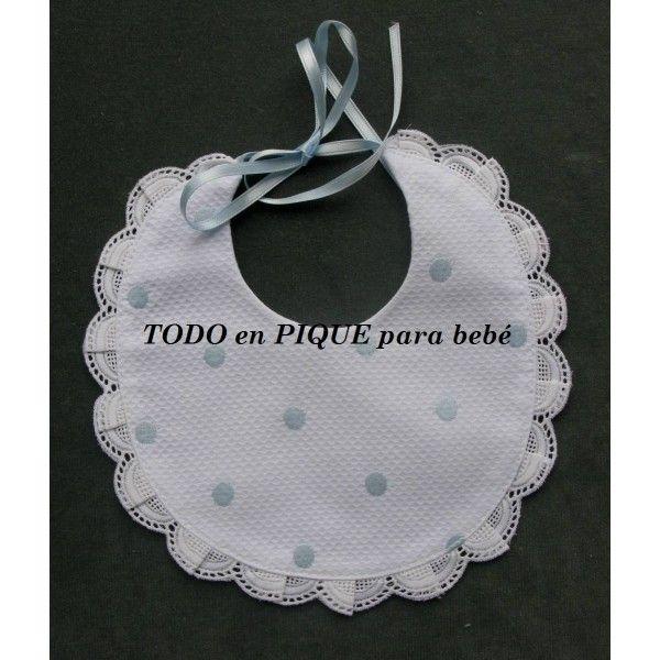 Babero recién nacido - Todo en Piqué para bebé