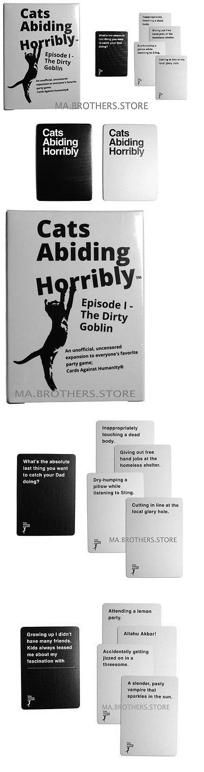 Other Card Games and Poker 2552: Cards Against Humanity Expansion Cats Abiding Horribly Party Game Dirty Goblin -> BUY IT NOW ONLY: $59.84 on eBay!