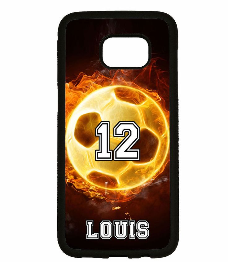 PERSONALIZED NAME NUMBER FIRE SOCCER PHONE Case For Samsung Galaxy S7 S6 NOTE 5 #UnbrandedGeneric