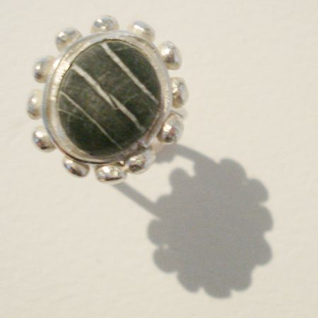 ring silver strandsten WURMA