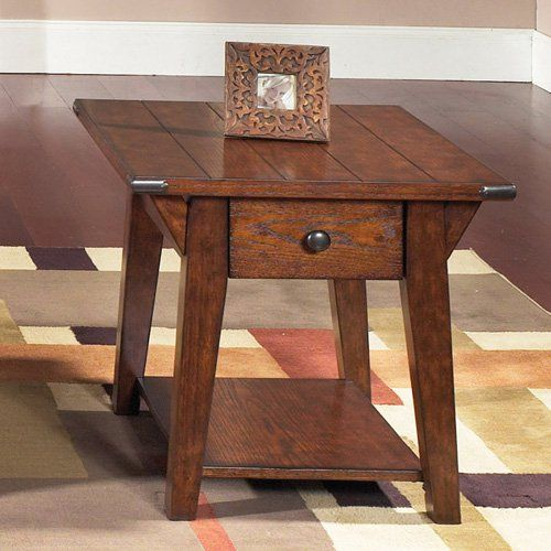 Have to have it. Cabin Fever Rectangular Bistro Brown Drawer End Table - $256 @hayneedle