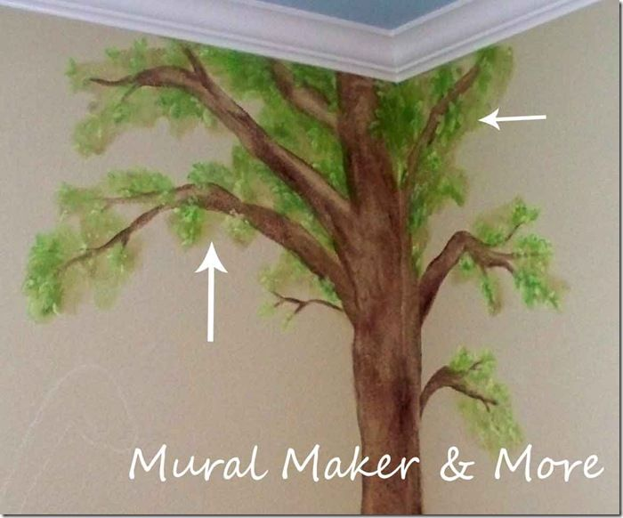 How to paint a Simple Tree Mural Tutorial ~ I need to do this in the awkward corner of my laundry room.