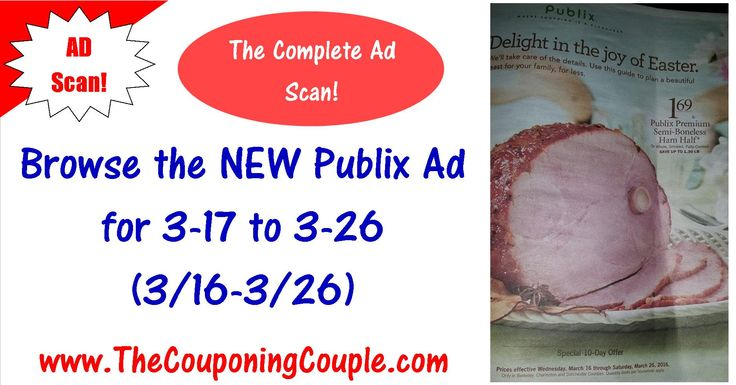 QUESTION? Who wants to BROWSE the Ad Scan for the upcoming Publix Sale? If so here is the Publix Ad Scan for 3-17 to 3-26-16 (3/16-3/26)! Browse every page of the actual Ad scan as you get Ready to make your list! PLEASE HELP US and COMMENT ON THIS POST TO KEEP IT BUMPED! And if you would use that SHARE button to help us spread the word! Click the Picture below to BROWSE EVERY PAGE OF THE AD ► http://www.thecouponingcouple.com/publix-ad-scan-for-3-17-to-3-26-16/  Help