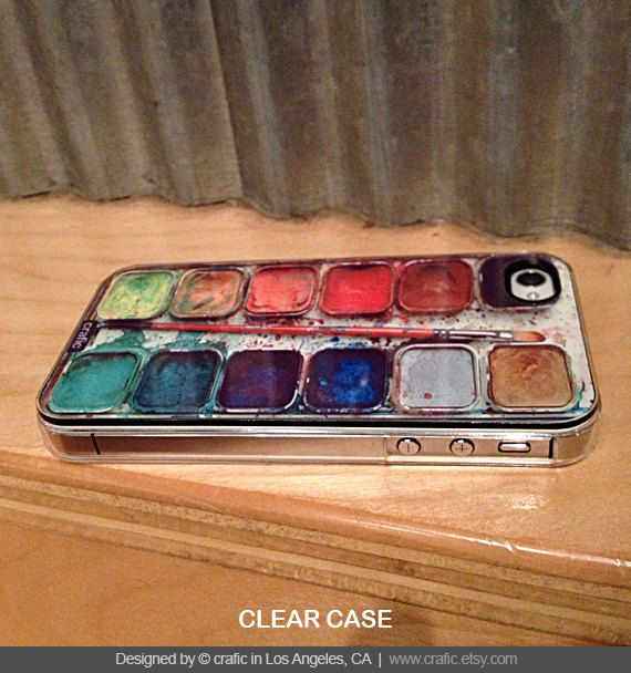 Watercolor Set iPhone Hard Case / Fits iPhone 4 4s by CRAFIC, $16.99