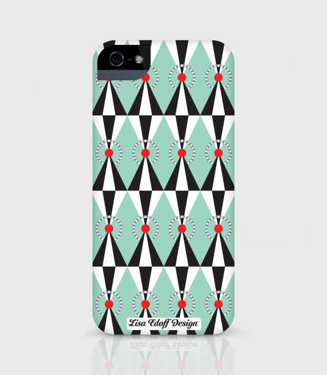 Green Circus, mobile shell for iPhone5/5s by Lisa Edoff Design #nordicdesigncollective #lisaedoffdesign #green #circus #circustent #tent #mobileshell #iphone5 #iphone5s #accesories